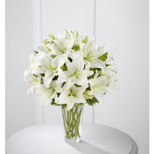The Spirited Grace Lily Bouquet by FTD - VASE INCLUDED